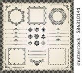 vintage set of vector... | Shutterstock .eps vector #586310141