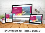 3d rendering with multidevices... | Shutterstock . vector #586310819