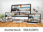 3d rendering with multidevices... | Shutterstock . vector #586310891