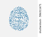 happy easter greeting card with ...   Shutterstock .eps vector #586311671