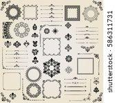 vintage set of vector... | Shutterstock .eps vector #586311731