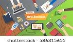 new business or start up... | Shutterstock .eps vector #586315655