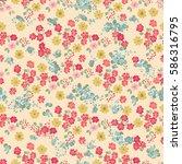 elegant gentle trendy vintage... | Shutterstock .eps vector #586316795