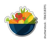 fresh and healthy vegetables... | Shutterstock .eps vector #586318391