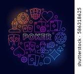 vector poker colorful...   Shutterstock .eps vector #586318625