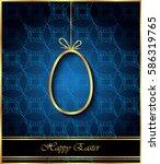 happy easter background for... | Shutterstock .eps vector #586319765