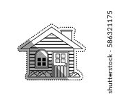 house real estate icon vector