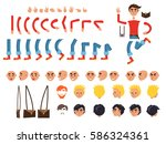 male person character colorful... | Shutterstock .eps vector #586324361