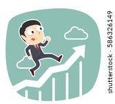 businessman running on raising...   Shutterstock .eps vector #586326149