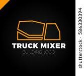 building company concrete truck ...   Shutterstock .eps vector #586330394