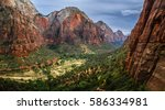zion national park utah usa... | Shutterstock . vector #586334981