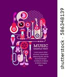 musical machine vector... | Shutterstock .eps vector #586348139