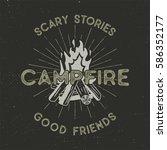 camping t shirt design. hand... | Shutterstock .eps vector #586352177