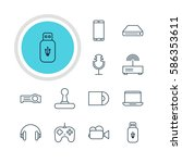 illustration of 12 accessory... | Shutterstock . vector #586353611