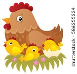chicken topic image 1   eps10... | Shutterstock .eps vector #586355324