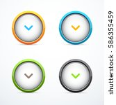 set of round download buttons | Shutterstock .eps vector #586355459
