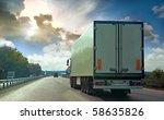 The Truck On Asphalt Road