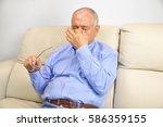 senior man with glasses...   Shutterstock . vector #586359155