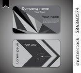business card modern abstract... | Shutterstock .eps vector #586360574