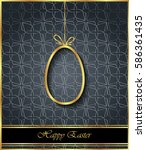 happy easter background for... | Shutterstock . vector #586361435