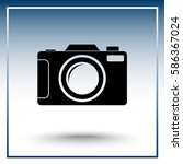 photo camera sign icon  vector... | Shutterstock .eps vector #586367024