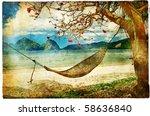 Tropical Scene  Artwork In...
