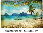 Tropical Beach   Artwork In...