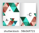 modern business brochure or... | Shutterstock .eps vector #586369721