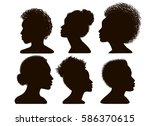 silhouettes of african american.... | Shutterstock .eps vector #586370615