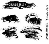 vector set of grunge brush...   Shutterstock .eps vector #586372079