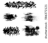 vector set of grunge brush... | Shutterstock .eps vector #586372121