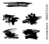 vector set of grunge brush... | Shutterstock .eps vector #586372124