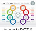 vector infographic of... | Shutterstock .eps vector #586377911