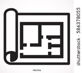 house plan icon floor plan