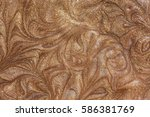 bronzing liquid shimmer texture ... | Shutterstock . vector #586381769