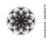 sacred geometry. lotus flower.  ... | Shutterstock .eps vector #586383275