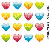 vector valentine hearts | Shutterstock . vector #58638382