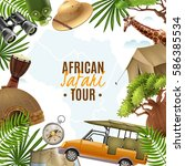 african tour background in... | Shutterstock .eps vector #586385534
