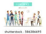 medical conference with... | Shutterstock .eps vector #586386695