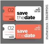 save the date minimalist modern ... | Shutterstock .eps vector #586389041