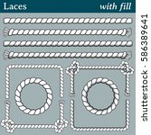 laces  with fill. 4 different... | Shutterstock .eps vector #586389641