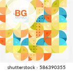 colorful circle elements.... | Shutterstock .eps vector #586390355