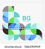 colorful circle elements.... | Shutterstock .eps vector #586390949