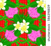 vector floral pattern for... | Shutterstock .eps vector #586398839