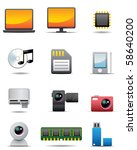 digital electrical appliance... | Shutterstock . vector #58640200