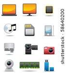 digital electrical appliance... | Shutterstock . vector #58640200