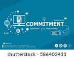 commitment related words and... | Shutterstock .eps vector #586403411
