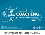 coaching related words and... | Shutterstock .eps vector #586403417