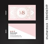 luxury business cards. vintage... | Shutterstock .eps vector #586406549