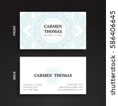 luxury business cards. vintage... | Shutterstock .eps vector #586406645